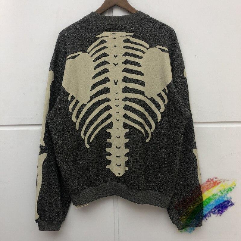 Skeleton Bone Printing KAPITAL Crewneck Sweatshirts Men Women 1:1 Best Quality Pullovers Casual Oversize KAPITAL Hoodie