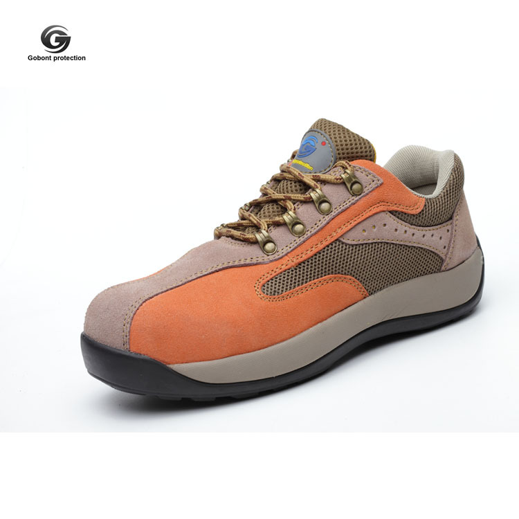 Gu Bont Safety Shoes Insulated Shoes Electrician Shoes 6kv Men's Genuine Leather Summer Breathable Safety Shoes Steel Toes Comfo