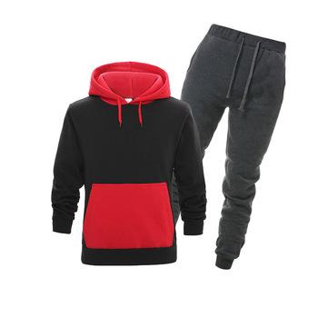 Męska nowa odzież sportowa męska odzież sportowa bluza z kapturem męska bluza hip-hopowa spodnie sportowe garnitury męskie tanie i dobre opinie O-neck Sznurek NONE COTTON Pełna Na co dzień Full Cotton Polyester Aplikacje Drukuj Gym suits