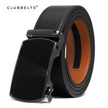 Clubbelts Men's Leather Ratchet Belt With Orthodox Automatic