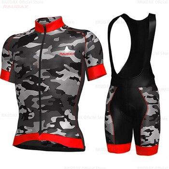 2020 verão pro equipe camisa de ciclismo dos homens manga curta conjunto respirável triathlon ciclismo roupas bib shorts esporte ciclismo kit 1
