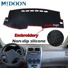Dashmat cubierta de tablero para Toyota Corolla, tapete para salpicadero, parasol, alfombra para Toyota Corolla E140/E150 2006 2007 2008 2009   2013