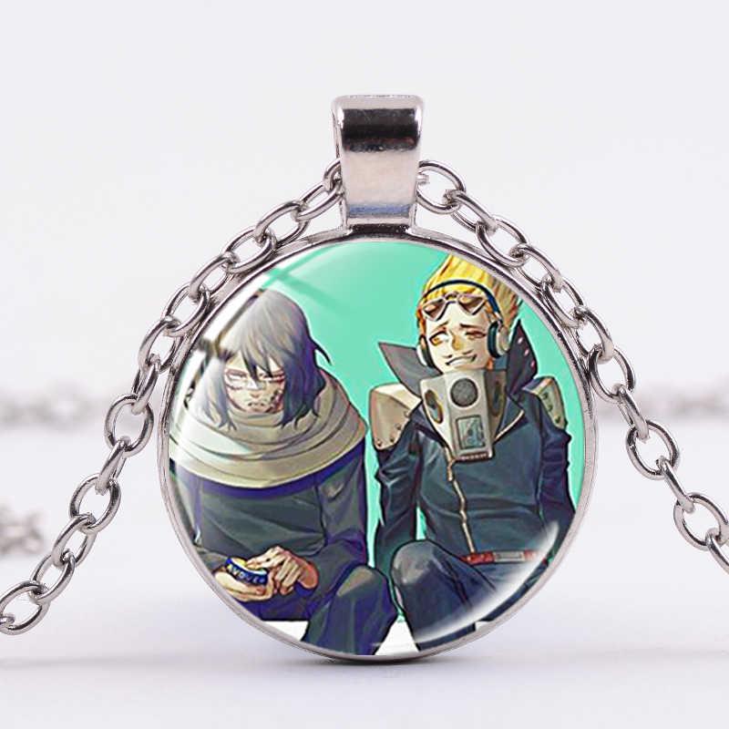 سيان أنيمي بطلي الأكاديمية ملصق فني قلادة Boku لا بطل العلوم الزجاج شارة فضية اللون سلسلة بيان مجموعة مجوهرات