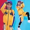 Costumes de danse Hip Hop enfant jaune manteau Shorts tambour Costume manteau Shorts rue danse vêtements Jazz Performance usure DNV12217