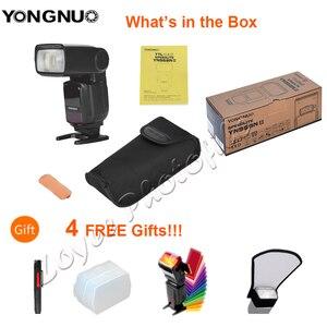 Image 2 - YONGNUO YN968N II flaş Speedlite Canon Nikon DSLR ile uyumlu YN622N YN560 kablosuz TTL Speedlite 1/8000 ile LED ışık