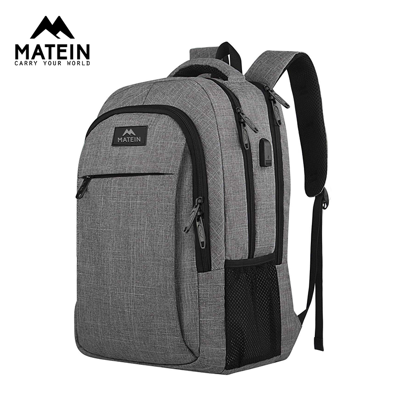 Matein Travel Laptop Backpack Business Anti Theft Slim Durable Laptops Backpack With USB Charging Port Travel Bag For Women Men