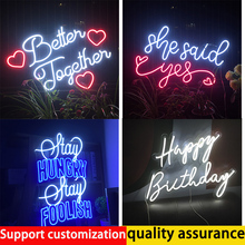 Neon Light Sign Custom For Room Personalized Modern Waterproof Led 3D Acrylic Wall Hanging Neon Top Decor Bar Wedding