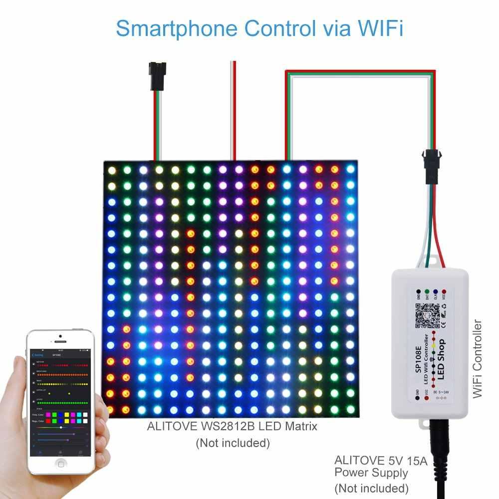 LED pikseli kontroler pasek światła SP110E Bluetooth SP106E SP107E muzyka wifi pilot zdalnego sterowania dla WS2811 WS2812B APA102 WS2801