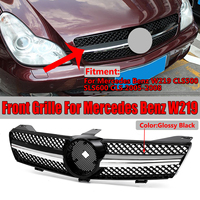 High Quality W219 Car Front Bumper Mesh Grille Grill For Mercedes For Benz W219 CLS500 SLS600 CLS 2005 2008 Without Emblem