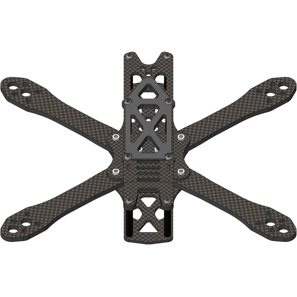 ALIEN FPV FRAME Alien RR5 5/6/7inch frame kit RC Drone FPV Racing Quadcopter Freestyle stretch X UAV Support 2205 2306 5045 F3F4(China)