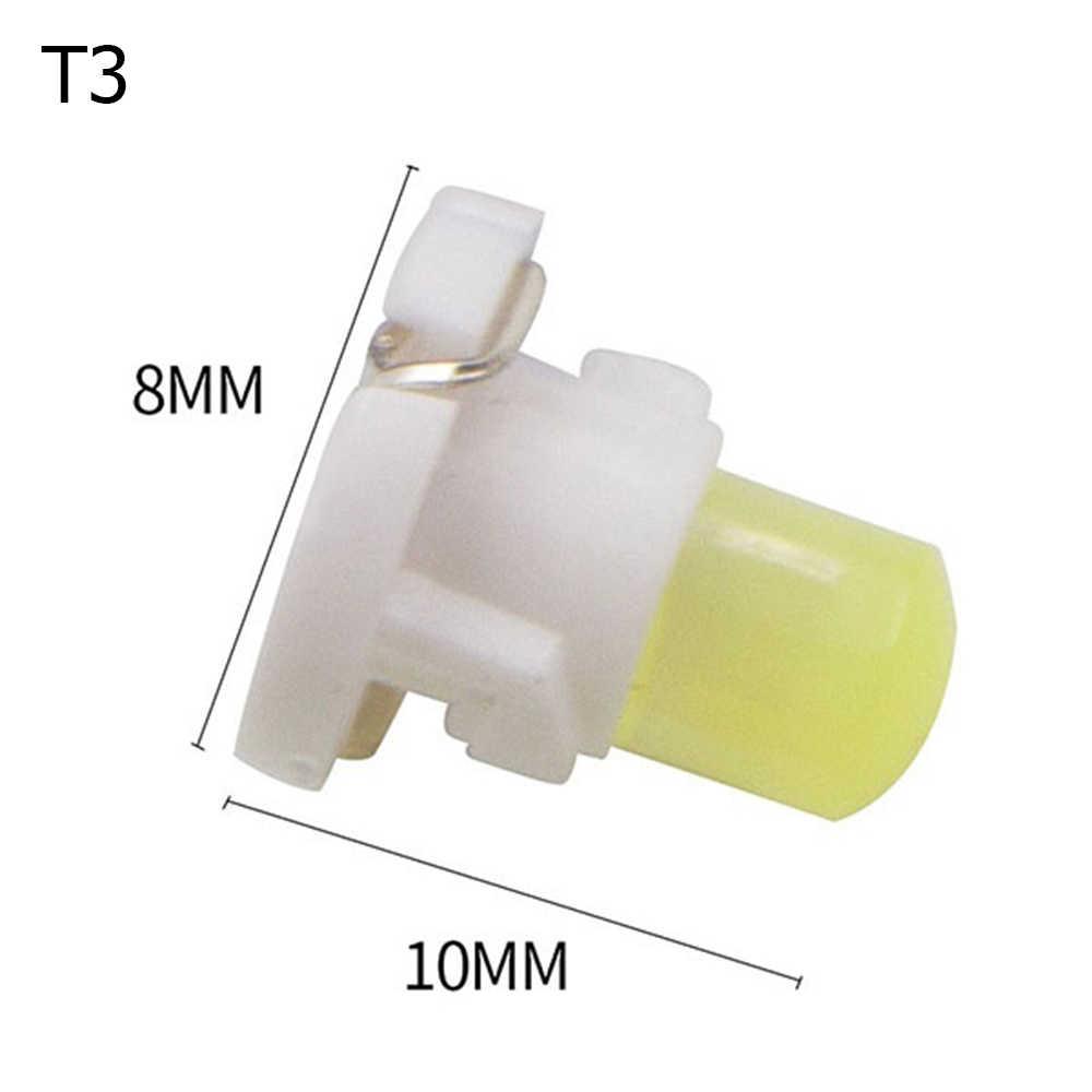 1pc T3 cob 12 12vウェled計器ランプダッシュインジケータライトパネル電球車のledランプ自動車アクセサリー