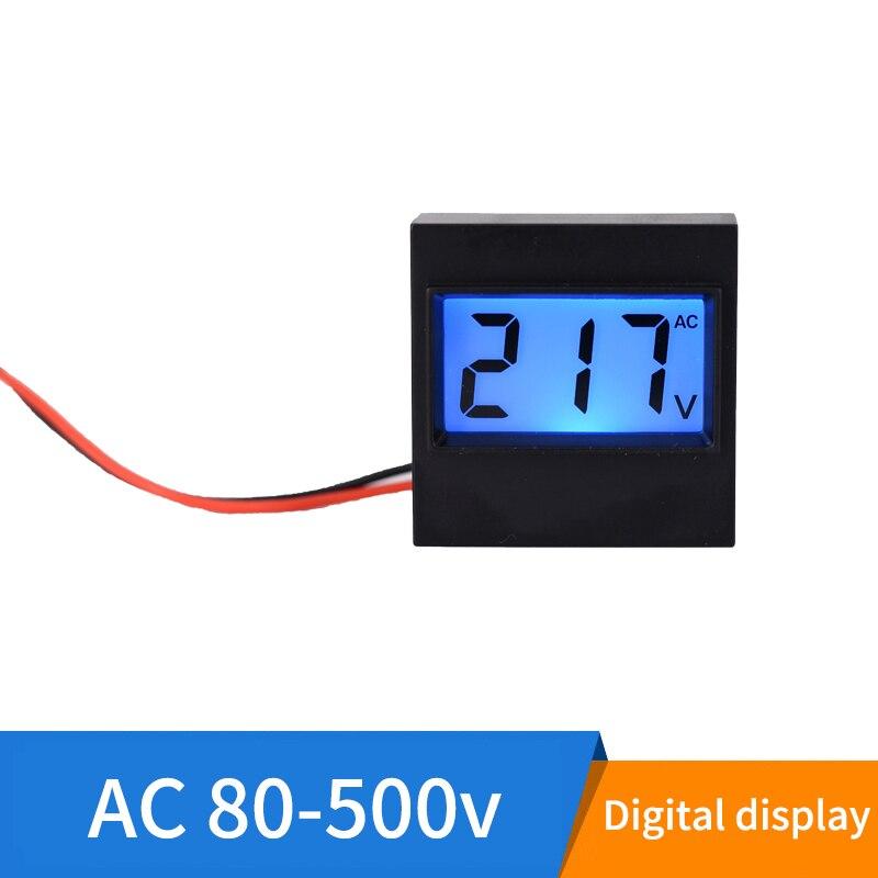 DC 0-99.9V Green LED Panel Digital Voltmeter Applied w// Alarm Indicator Green