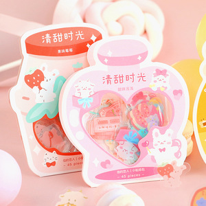 45 pcs/lot Sweet Time Series Decorative Stationery Planner Fruit flower Stickers Scrapbooking DIY Diary Album Stick Lable