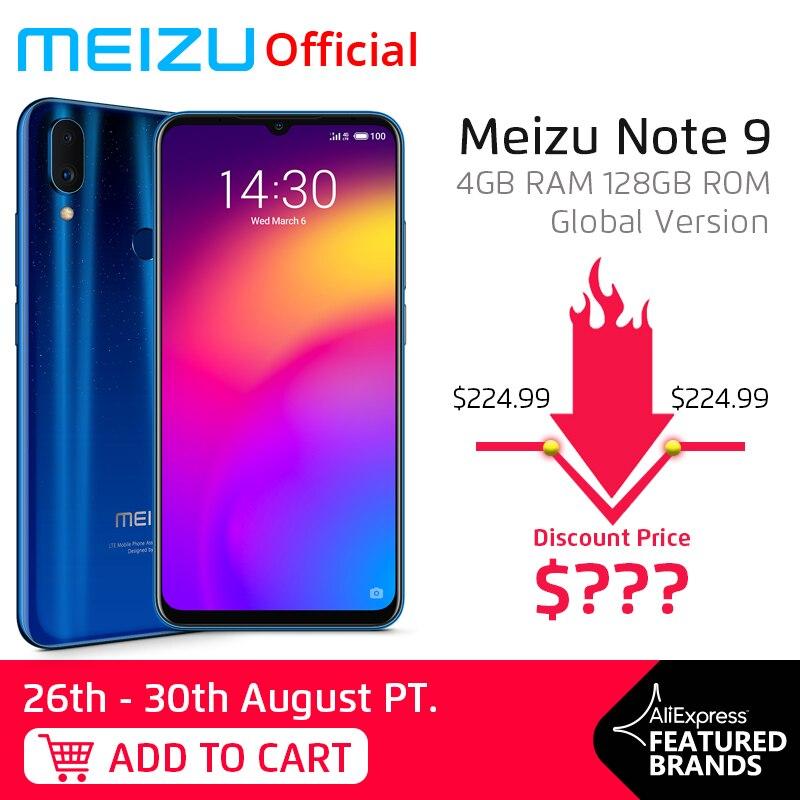 In Stock Global Version Meizu Note 9 4GB 128GB Smartphone Snapdragon 675 Octa Core Note9 6.2