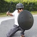 Круглый ручной щит для защиты от беспорядков, оборудование для патрулирования, тактическая самозащита, алюминиевый сплав, щит для трениров...