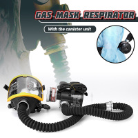 1 Set Protective Mask Electric Constant Flow Supplied Air Fed Full Face Gas Mask Respirator System Workplace Safety Supplies