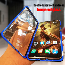 Metal Magnetic Case for Huawei P20 P30 pro Mate 10 20 Pro lite Tempered Glass Back Magnet Cases Cover for Honor 20 pro 10i Case