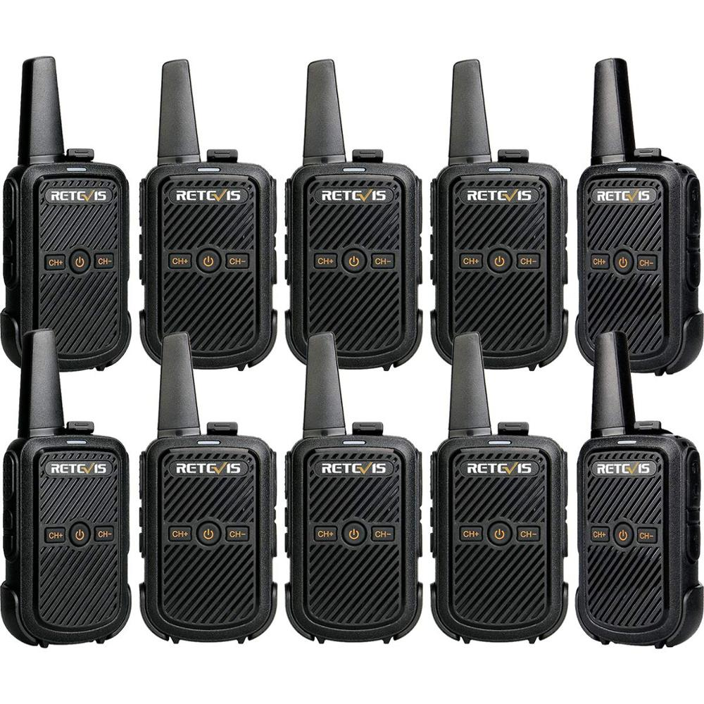 10 Pcs Retevis RT15 Walkie Talkies Mini Two Way Radio 2W UHF VOX Scrambler USB Charge Hotel/Restaurant Talkie Walkie Transceiver