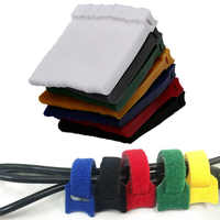 50 piezas de Cable de correa de nailon reutilizable, Cables de gancho y bucle, correas adhesivas, Cable de ordenador, cinta, Cable ordenadas organizador