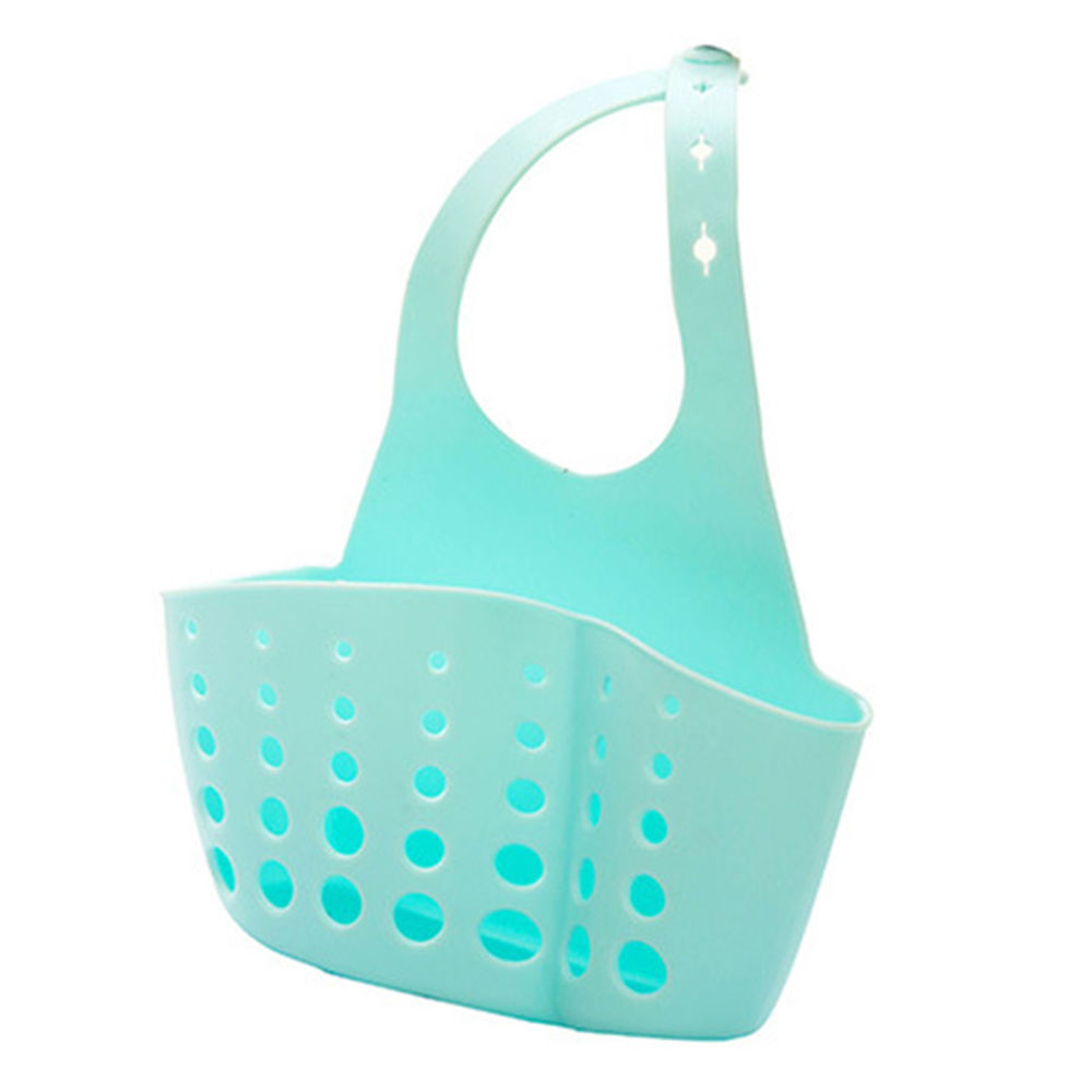1PC Portable Basket Home Kitchen Hanging Sponge Drain Basket Bag Bath Storage Tools Sink Holder Kitchen Accessory Supplies