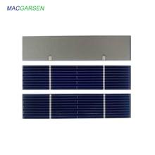 MACRAGSEN 100 pièces Panneau Solaire Module 0.5 V Photovoltaïque Cellules Solaires Chargeur de puissance DUSB de Panneau de bricolage Solaire Mobile 300mA 78*12mm 7810 m