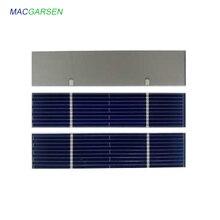 MACRAGSEN 100 piezas Módulo de Panel Solar 0,5 V células solares fotovoltaicas Panel de cargador de energía USB DIY Solar móvil 300mA 78 * 12mm 7810 m