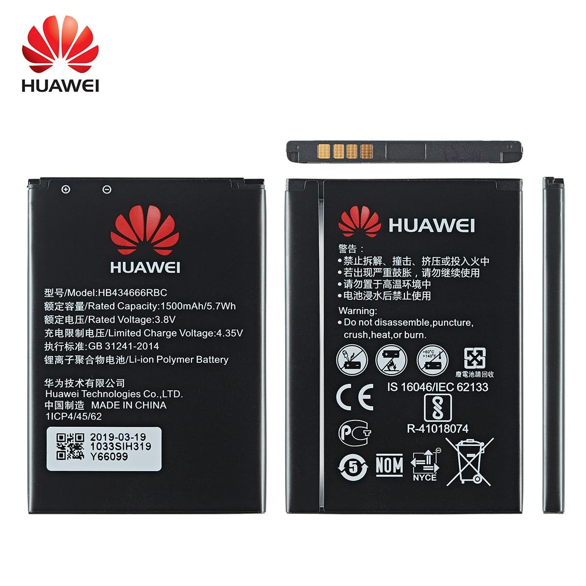 100% Orginal HB434666RBC Phone Battery 1500mAh For Huawei  Router E5573 E5573S E5573s-32 E5573s-320 E5573s-606 E5573s-806