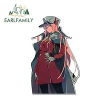 EARLFAMILY 13cm x 8.3cm For Zero Two Darling In The FRANXX Motorcycle Stickers Cartoon Graphics Decal Suitable for VAN RV