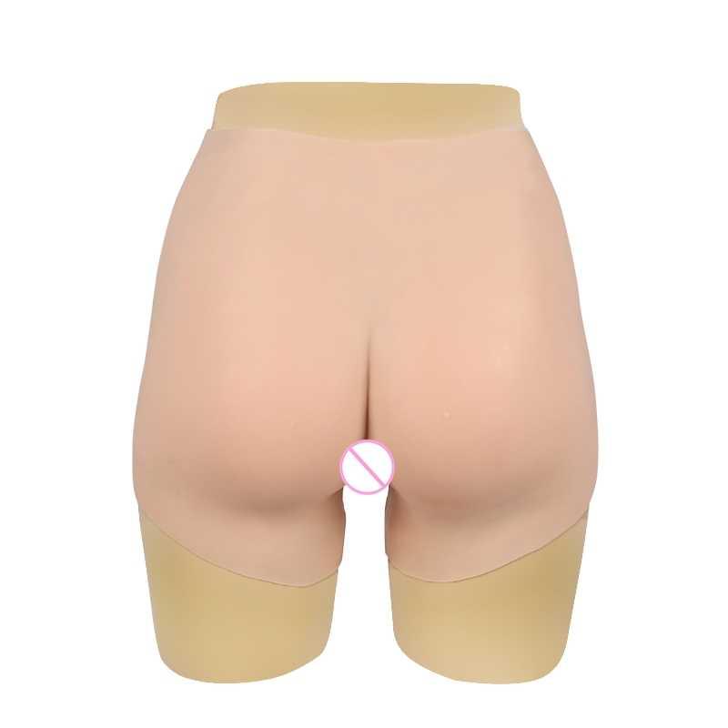 70CM 실리콘 현실적인 음부 팬티 쉬 메일 Crossdresser 음모 바지 트랜스 젠더 인공 섹스 가짜 속옷 향상제 엉덩이 1G