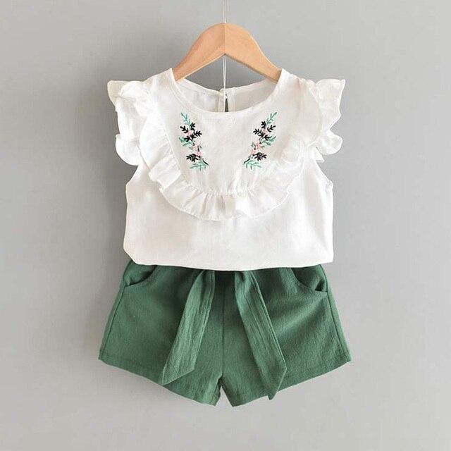 Set Pakaian Lengan Pendek dan Celana Pendek Anak Perempuan 6