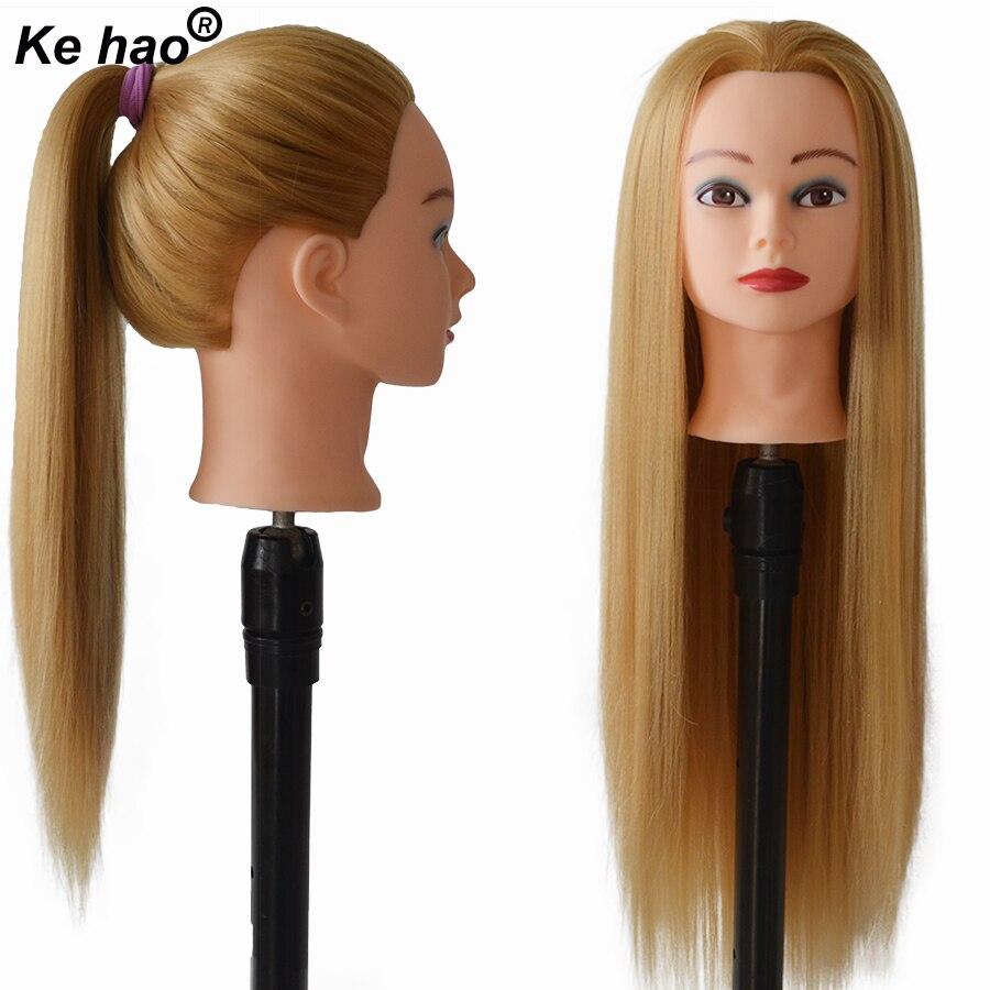 Манекен волос для кукол, профессиональная головка для укладки, 100% волосы из термостойкого волокна, 24 дюйма, длинный, толстый, гладкий, Плетен...
