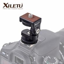 HB 1 Mini Hot Shoe Adjustable Mount Holder on Camera Monitor Bracket Stand 1/4 screw for Video Camera Monitor Fill light Flash