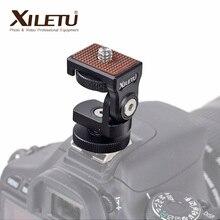 HB 1 Mini sıcak ayakkabı ayarlanabilir montaj tutucu on kamera monitörü braketi standı 1/4 vida Video kamera monitörü dolgu ışığı flash