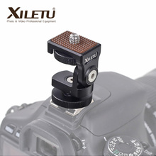 HB 1 Mini soporte de montaje ajustable para cámara, tornillo de 1/4 pulgadas, Monitor, luz de Relleno Flash