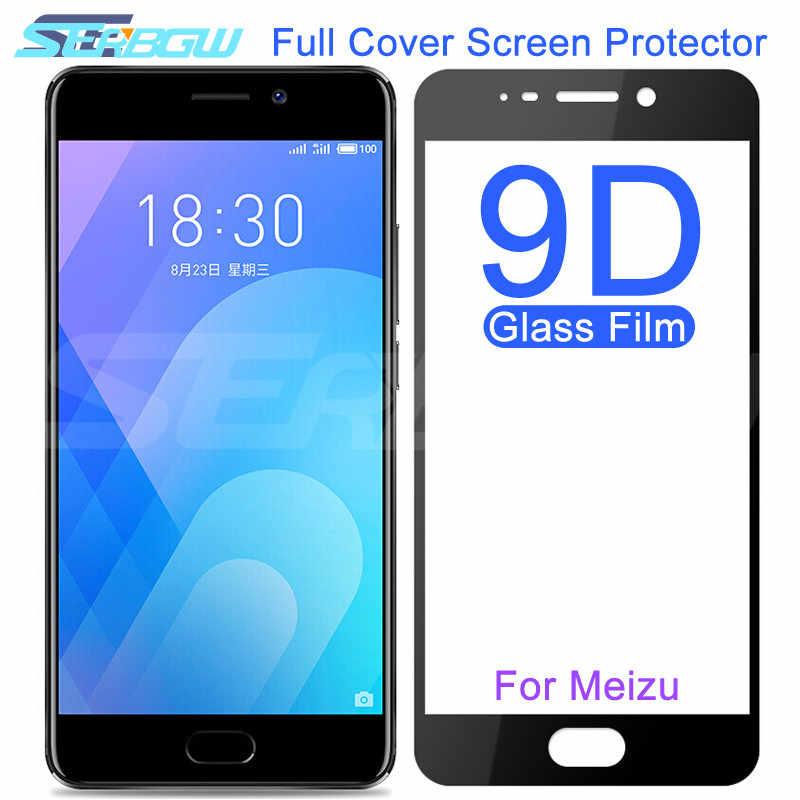 9D Tempered Glass Di untuk Meizu M8 Lite M6 M5 Catatan M8C M6S M6T M5S M5C V8 pro Pelindung Layar Film Pelindung