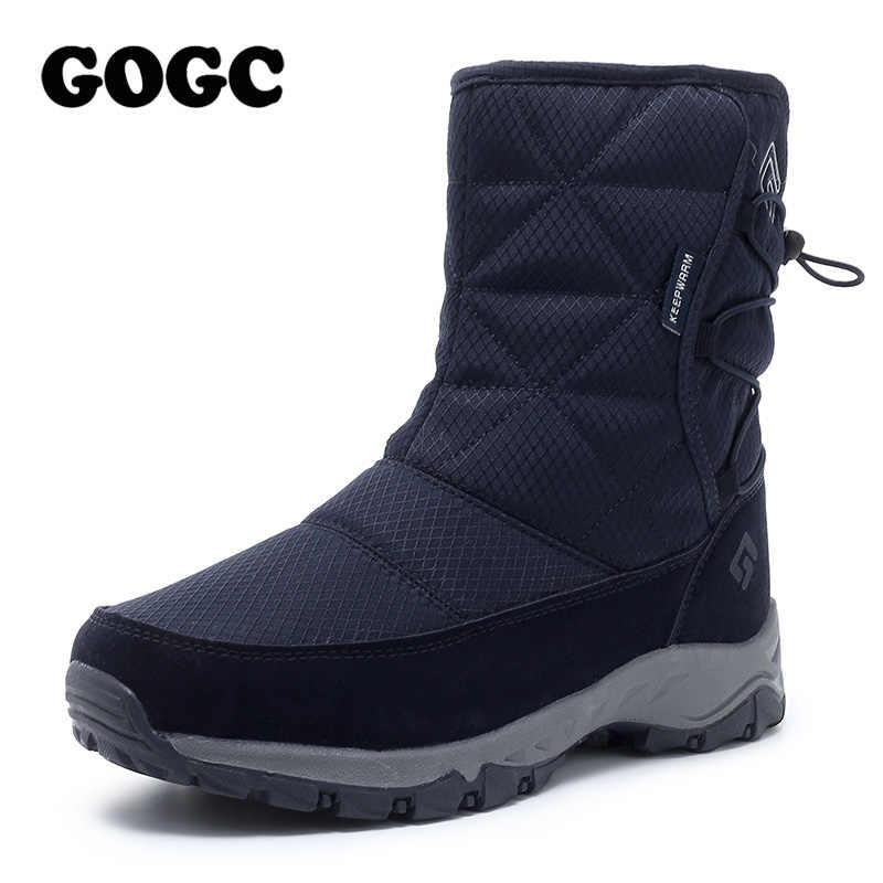 GOGC yarım çizmeler beyaz kadın botları snowboots kadın 2019 kış çizmeler kadınlar için kış ayakkabı kadın kışlık botları su geçirmez 9905