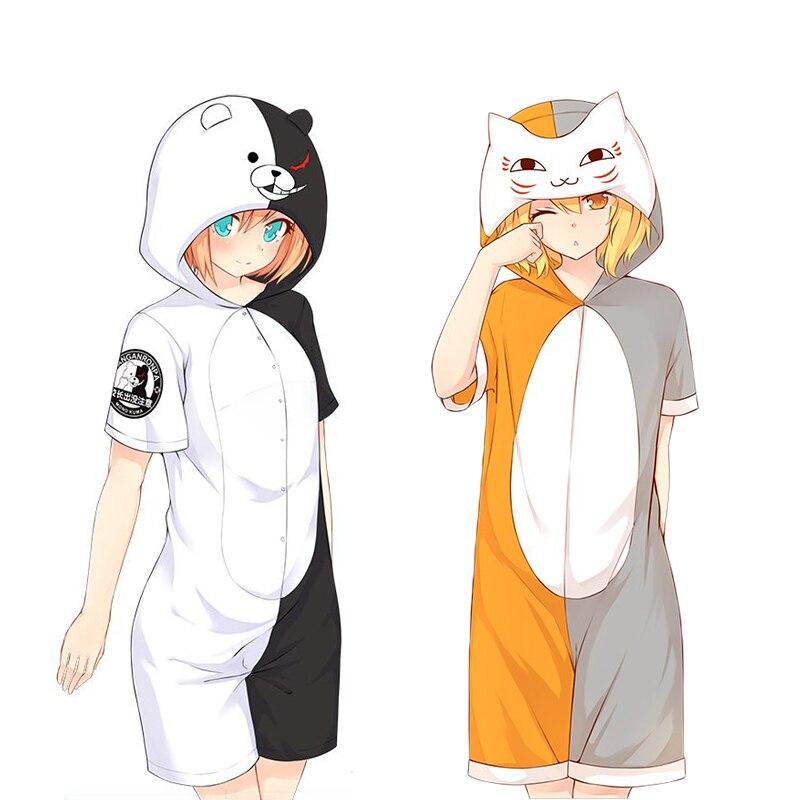 Danganronpa Dangan Ronpa Natsume Yuujinchou Totoro Cosplay Onesies Pyjama Costume Monokuma Madara Halloween Pyjamas Sleepwear