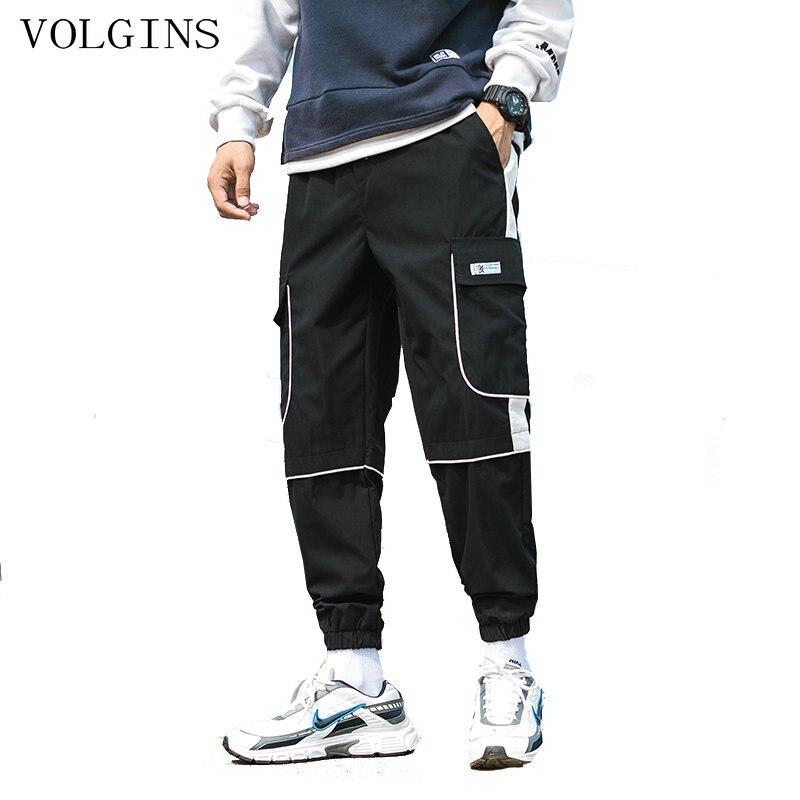 Streetwear Man Jogger Pants Side Pockets Loose Style Men's Sweatpants Fashion 2020 High Street Casual Pants Mens Harem Pants