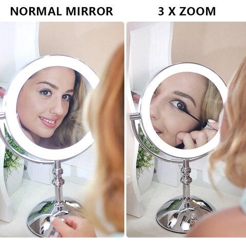 8 polegada 2 face de metal espelho
