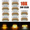 10 шт 24V 12 светодиодный автомобиль грузовик боковой габаритный фонарь, Светильник Автомобиля внешние светильник сигнальная лампа индикатор...