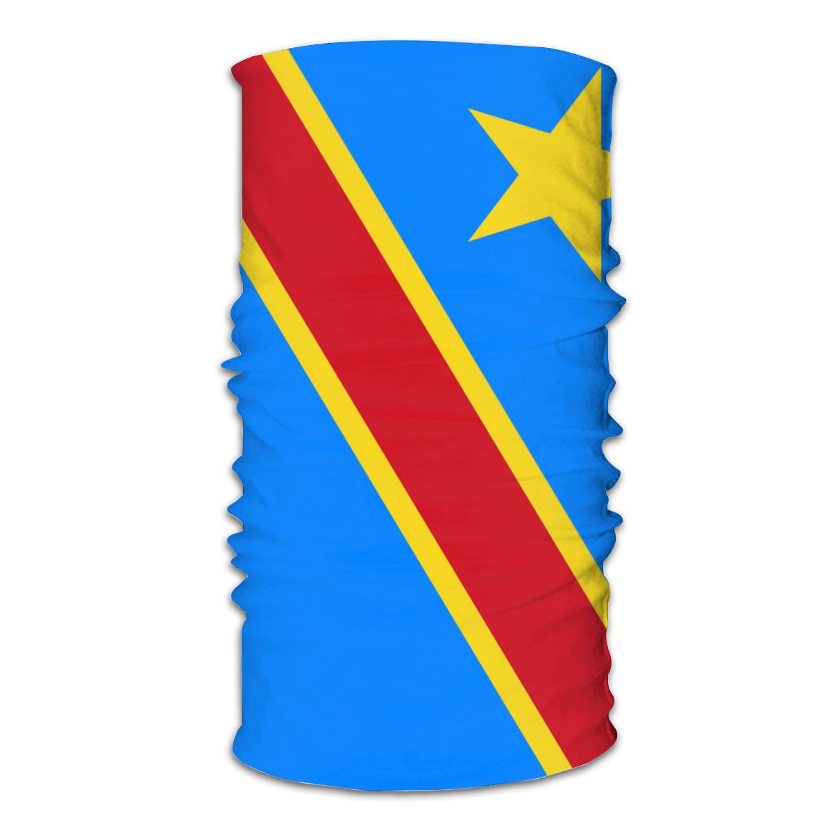 Republic Of The Congo Scarf Neck Face Mask Unisex Fashion Tube Scarf Tubular Bandana Protective Headband Biking Hiking
