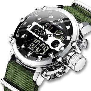 Image 1 - MEGALITH Sport Casual zegarki mężczyźni Luminous wodoodporne mężczyźni Top marka luksusowe data LED analogowy zegarek kwarcowy zegar Relogio Masculino