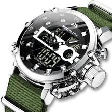 MEGALITH relojes deportivos informales para hombre, luminosos, impermeables, con fecha de lujo, LED, analógico, de cuarzo, Masculino