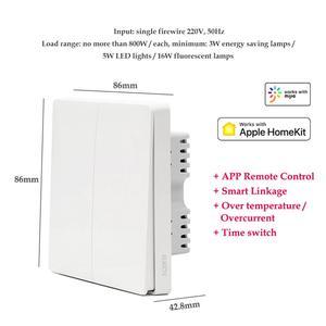 Image 3 - Xiaomi wall switch ZigBee Aqara Wireless Switch Key Smart home Zero Line Fire Wire Light Switch Remote Control For Mijia Homekit