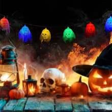 Хэллоуин призрак 10 светодиодный светильник тема вечерние сказочный