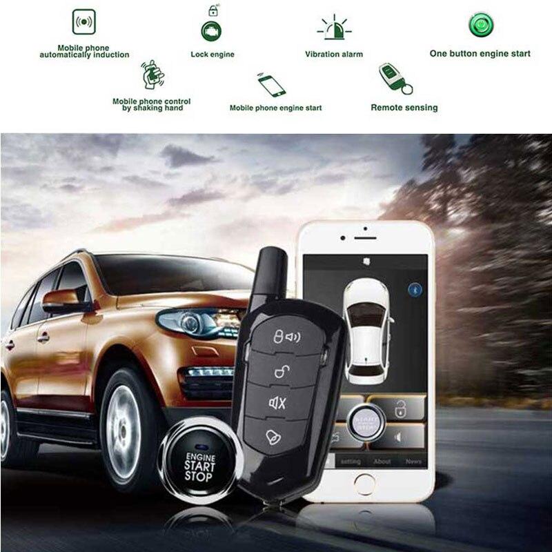 Alarme de voiture démarrage automatique verrouillage central avec démarrage à distance et alarme clé fob alarme pièces de voiture pour mazda cx5 système d'entrée sans clé PKE
