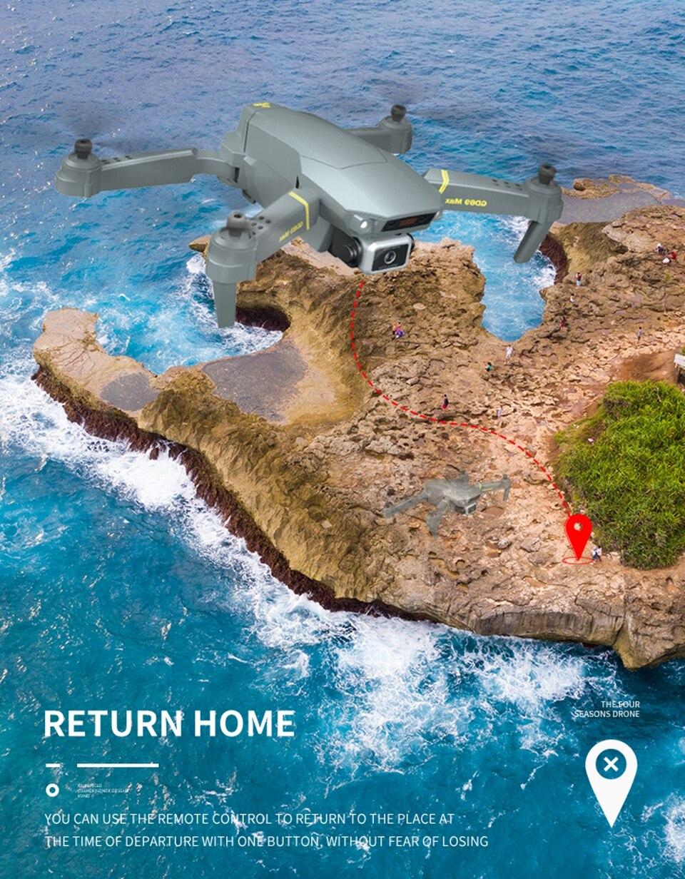 Квадрокоптер (дрон) Global Drone gd89 с камерой WI-Fi FPV — купить в интернет-магазине OZON с быстрой доставкой