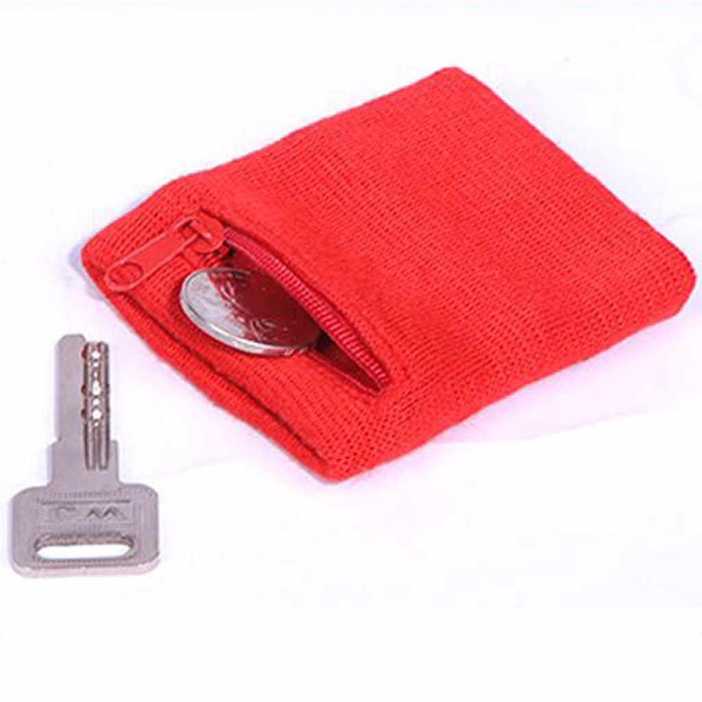 ジッパー手首財布ポーチバンドジッパーランニング旅行ジムサイクリング安全キーカードスポーツバッグ綿収納快適な実行するための