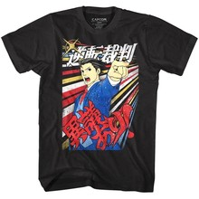 Resmi Ace Attorney Igiari Pria T-shirt Video Game Petualangan Visual Atas(China)