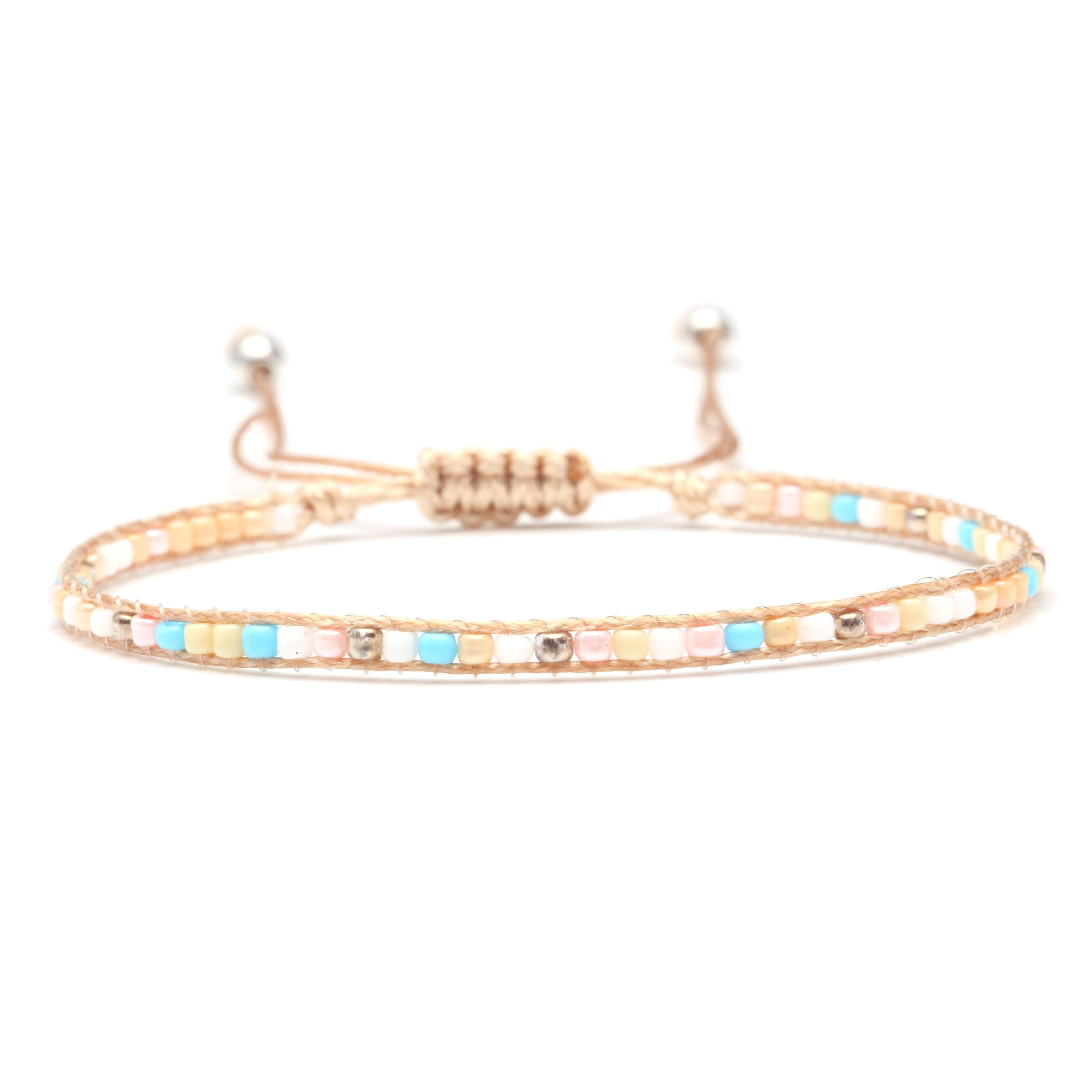 Beach Sea Glass Stretch Cuff Bracelet Sea Women NEW